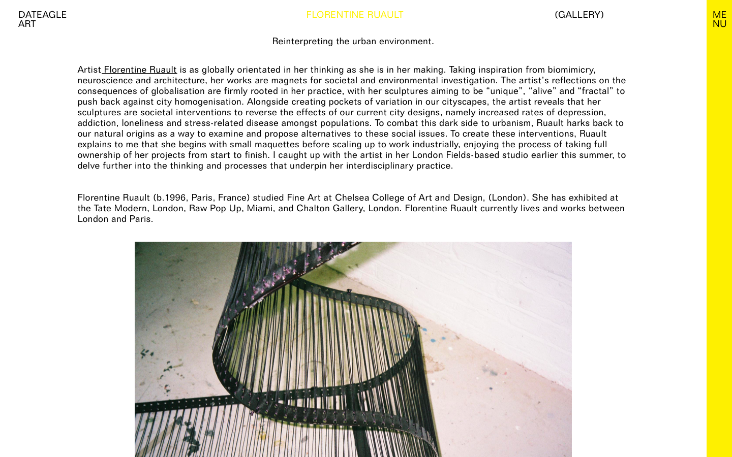 INTERVIEW BY DATEAGLE ART  Words by Laura Gosney. Photography by Vanessa Murrell