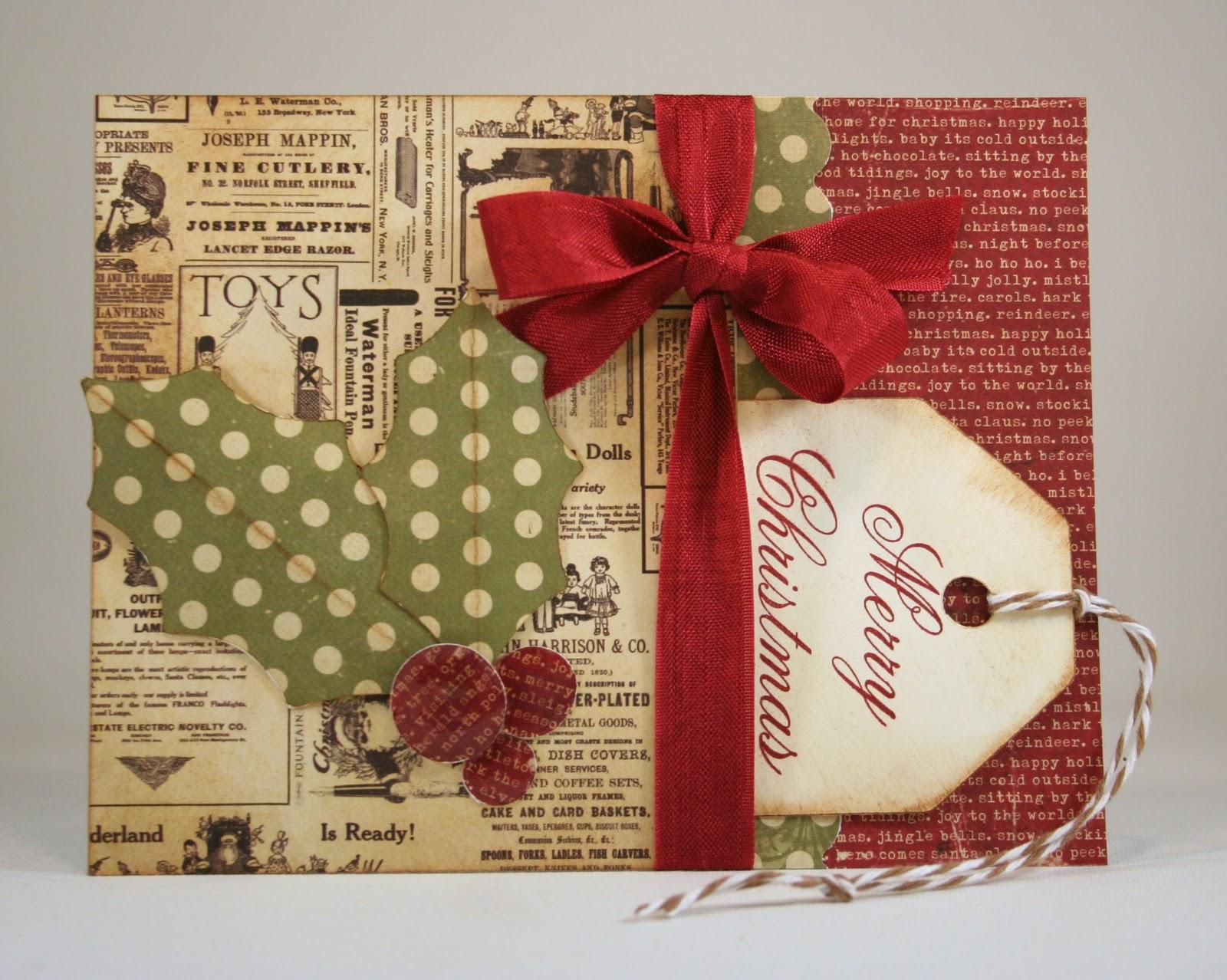 Vintage Holly Gift Card Holder  006.jpg