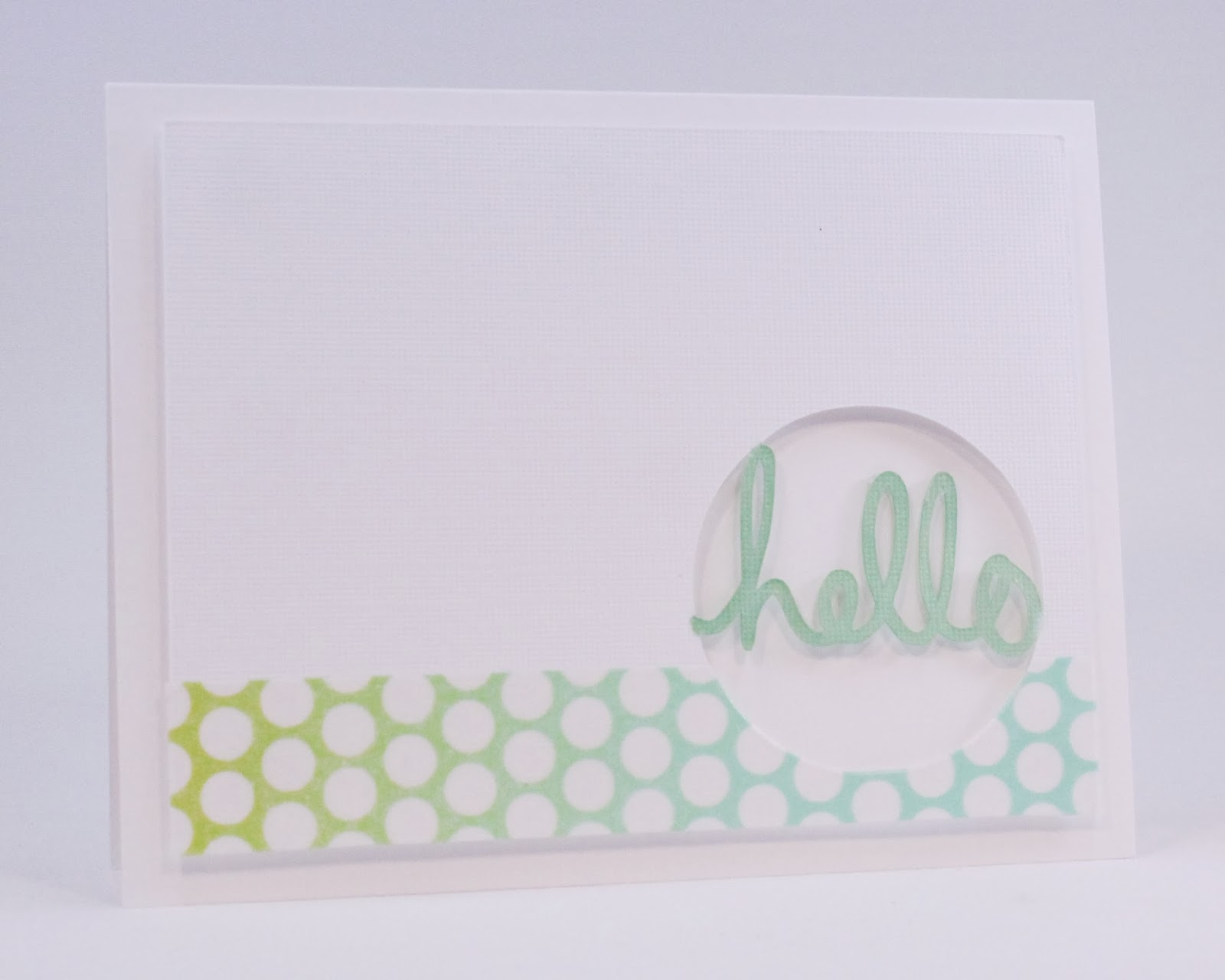This card uses washi tape from the  Studio Calico Spaulding Bowl add on  and a coordinating marker to add color to the greeting.