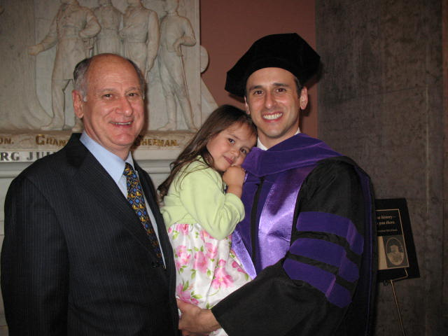 Troy with his dad and daughter, Alondra at law school graduation.