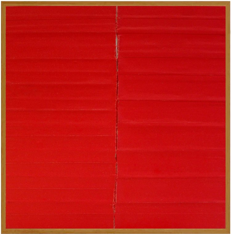 Anordnung 3.2, 2014, Linen Tape 15 in. x 15 in.