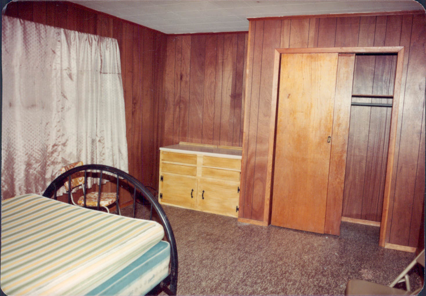 Bedroom where Gary Kergan fought for his life