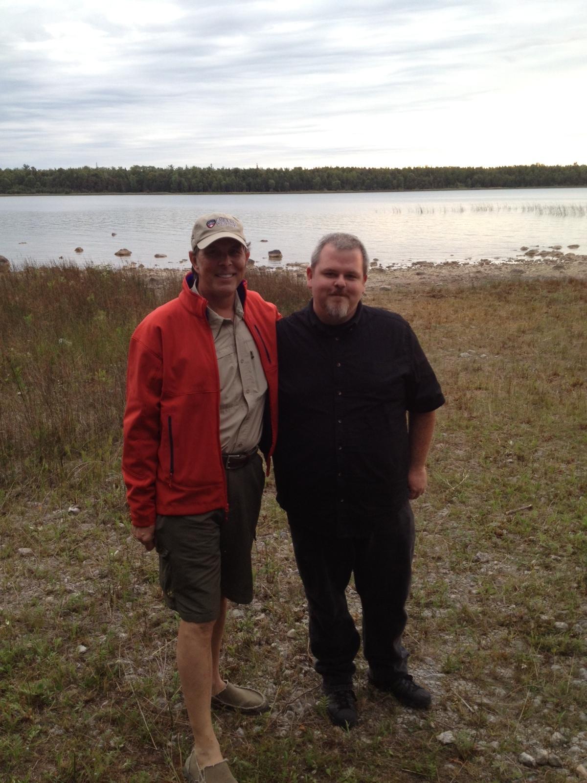 Ted Kergan with his nephew, Wade Kergan
