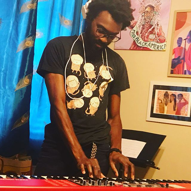 Charles' keyboard choreography and some lo-kei flute vibes. We at Shotgun Music Series tomorrow night. 1316 Joliet St. Doors 7pm. #sunroom18 #believebecome