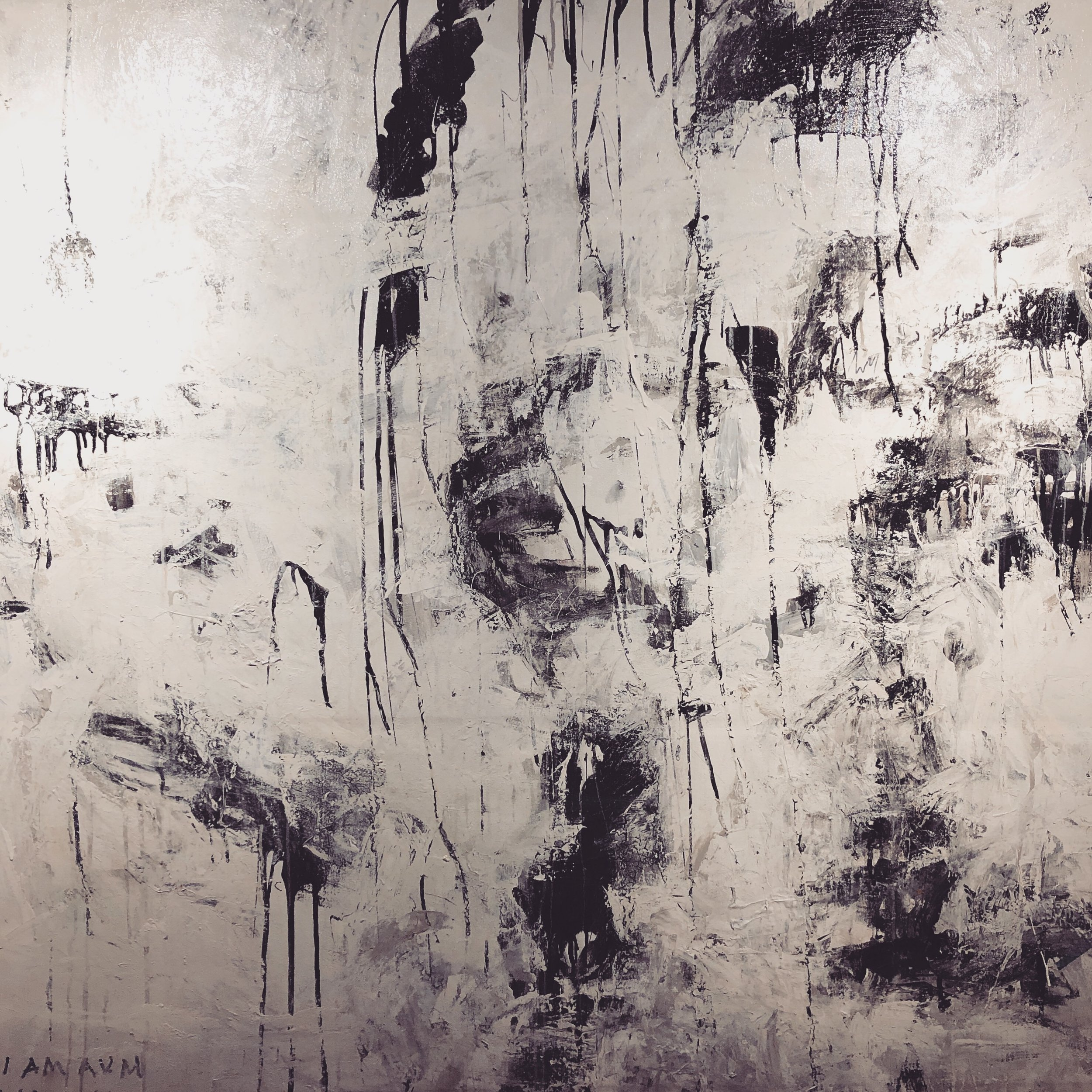 B + W - B + W is the second black and white painting of AVM. B+W is an original large scale Black and White painting on canvas. Created for impact and zen.