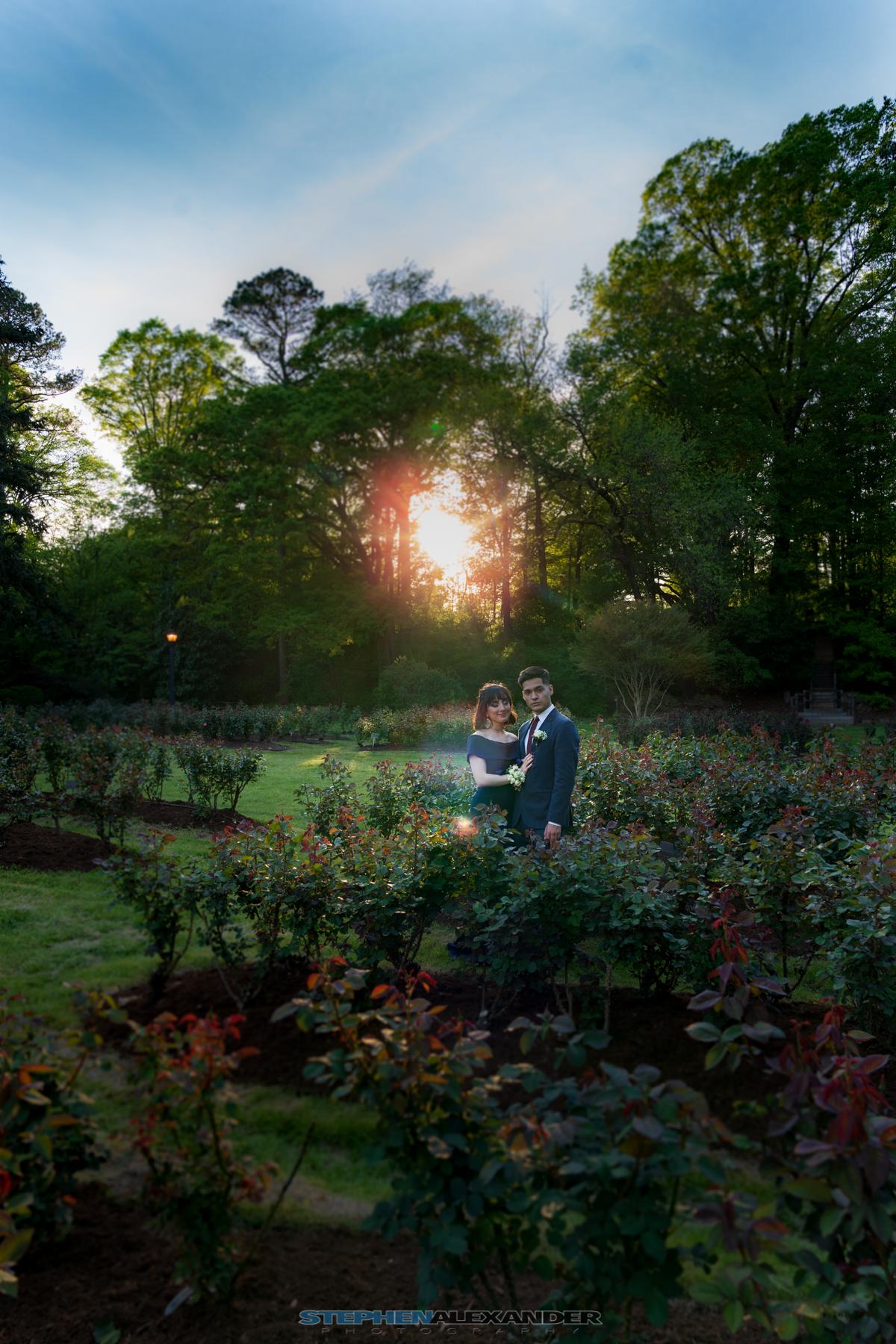 Raleigh Rose Garden, Senior Prom Portraits