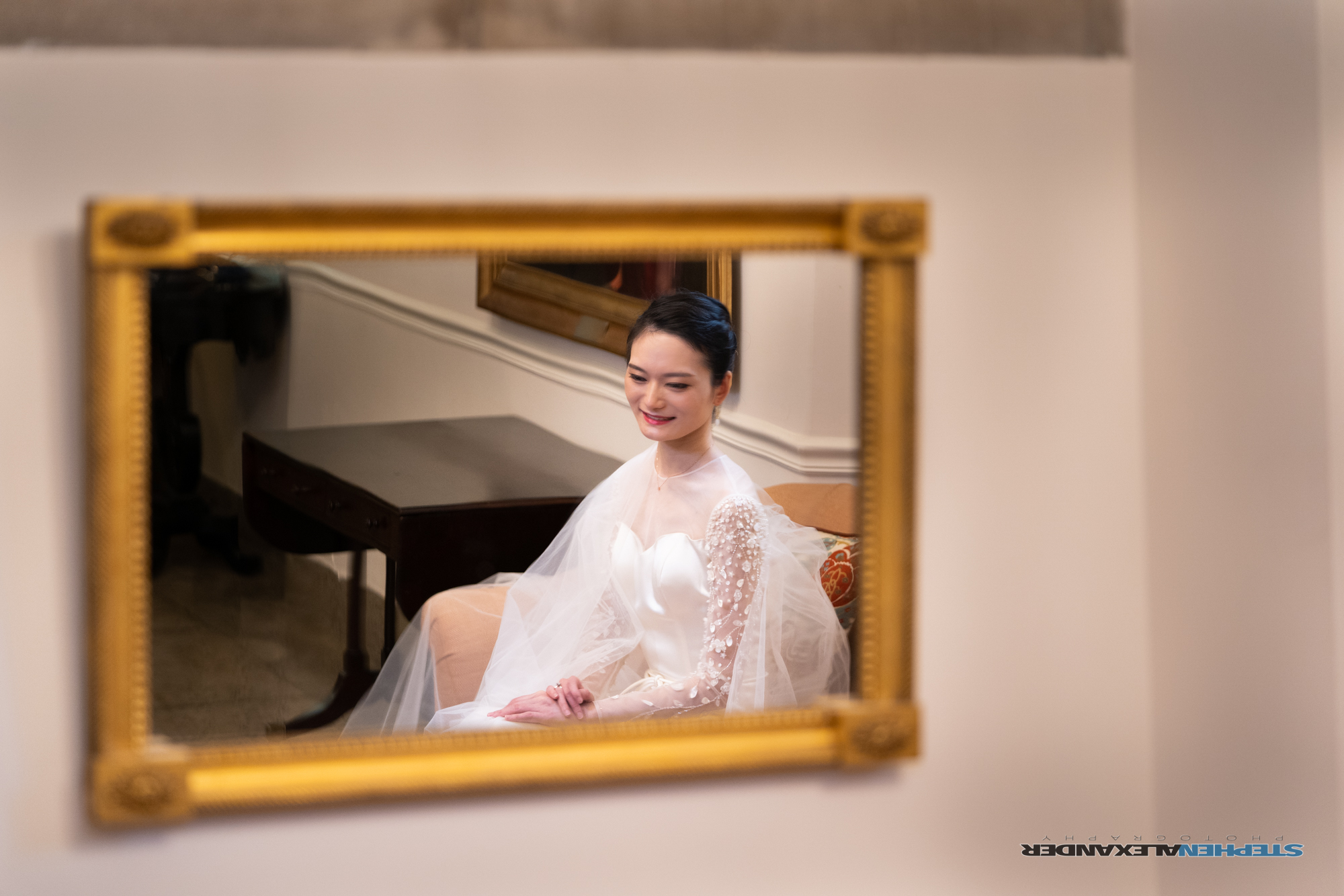 The Bride in the Duke Chapel Parlor
