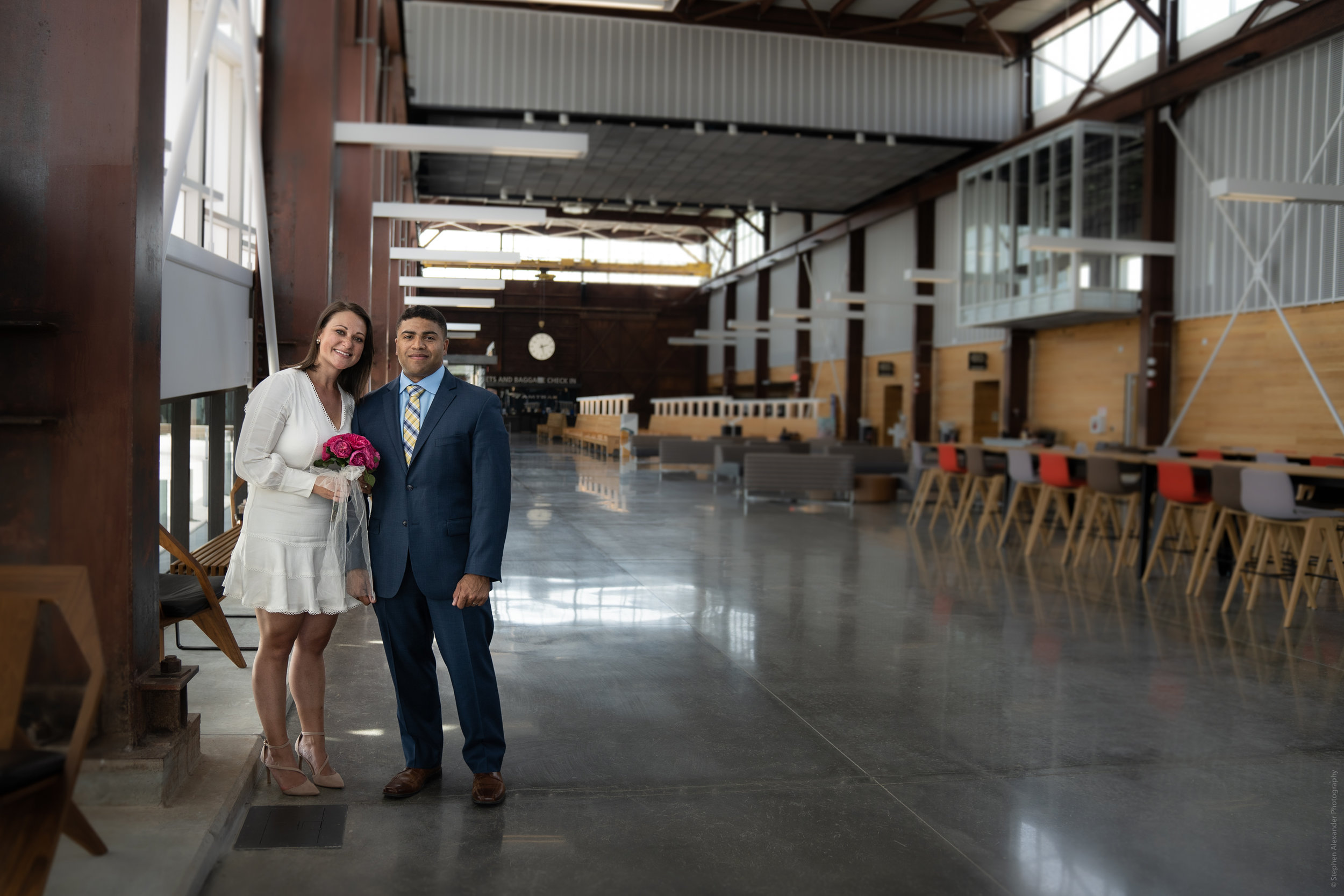 Raleigh Union Station - Wedding Portraits