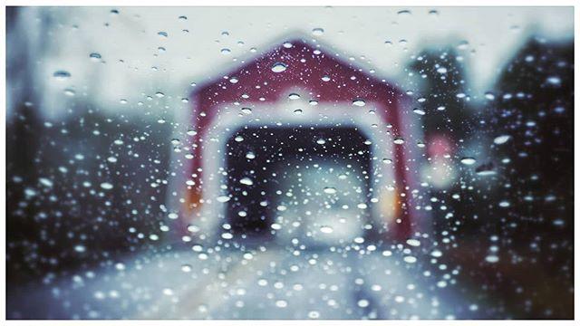 Shimanek Bridge #coveredbridge #thomascreek #rainydays