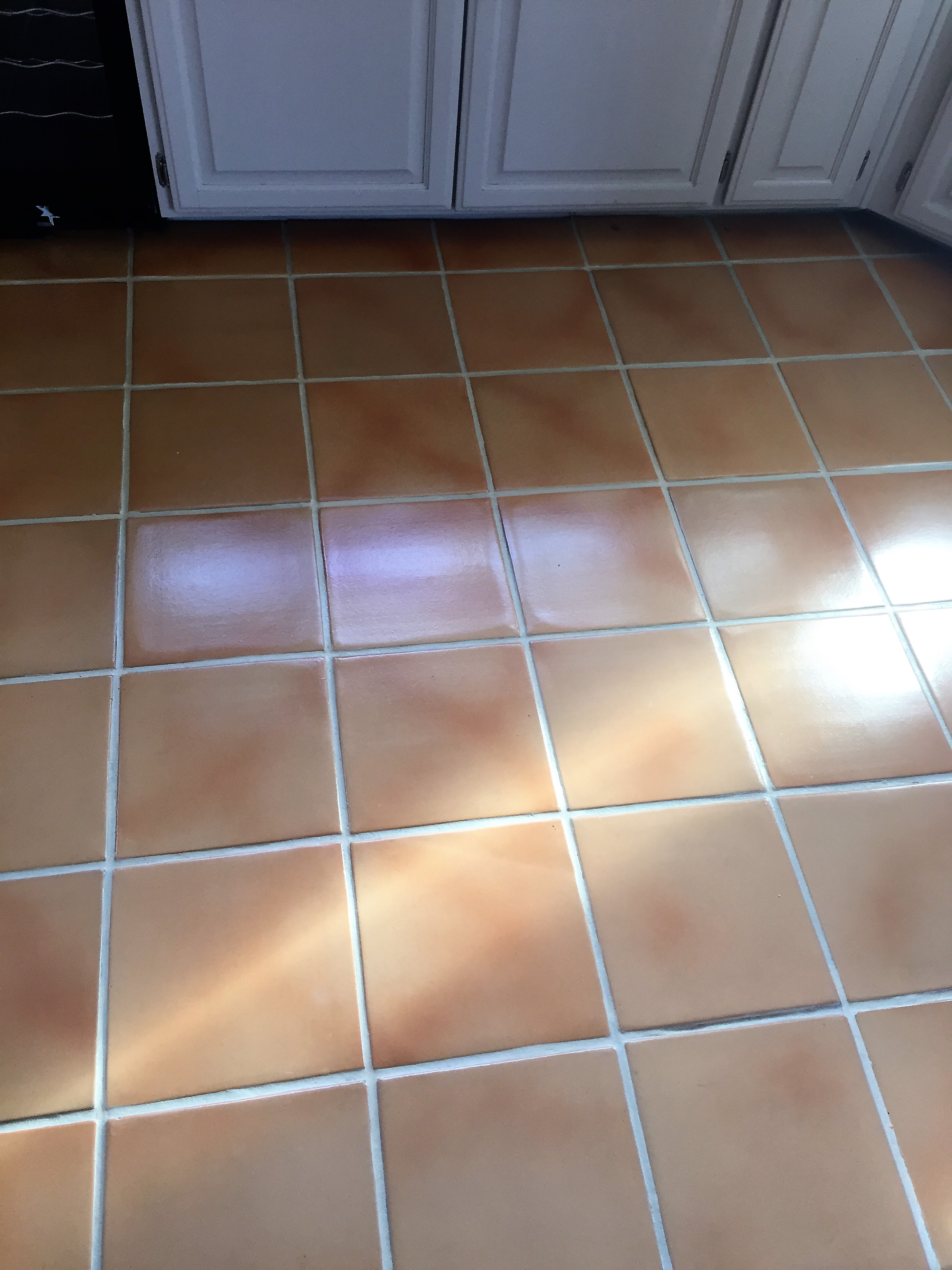 saltillokitchen after being stained and sealed with wetlook.JPG