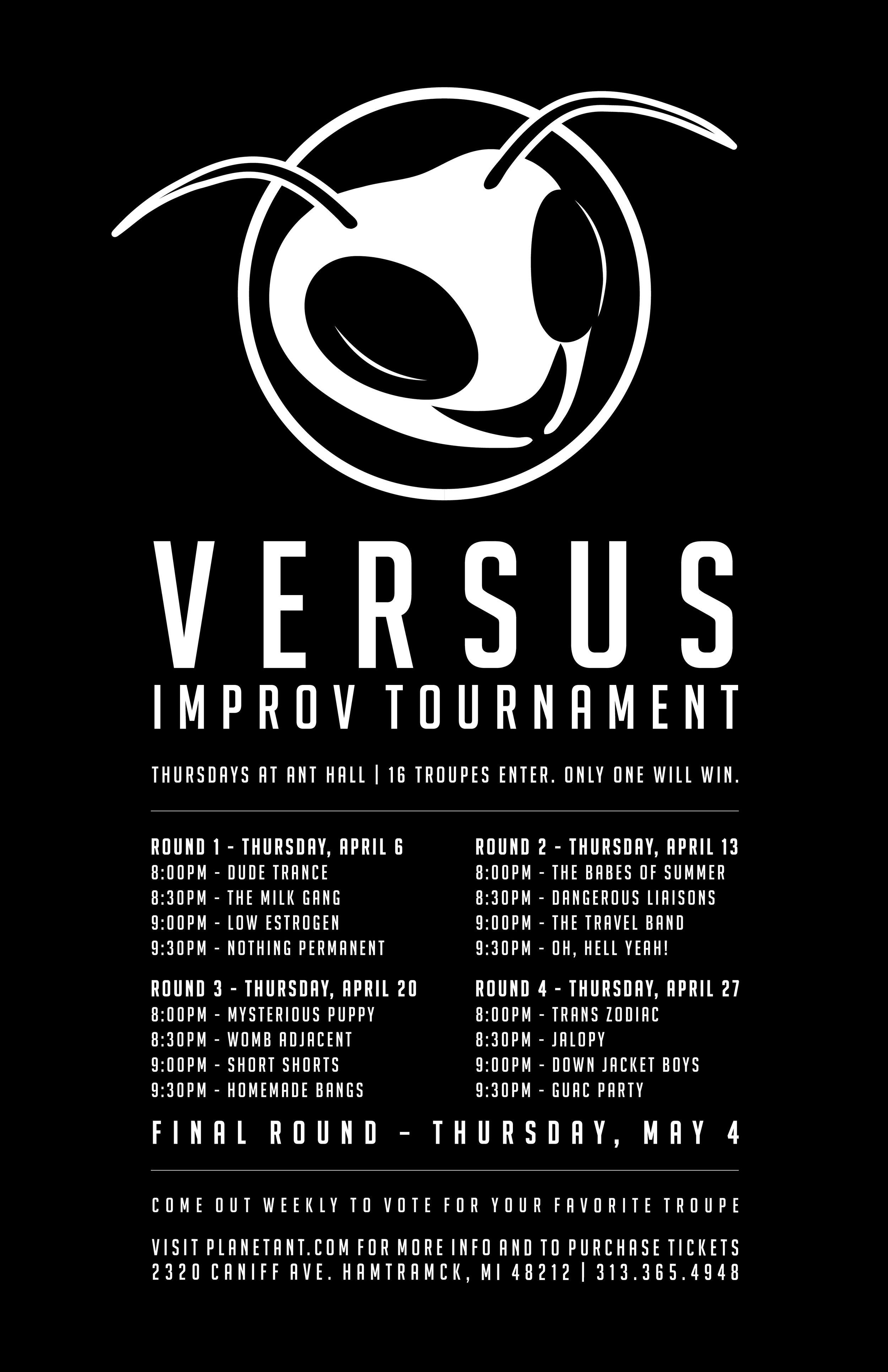 Versus Improv Tournament Poster