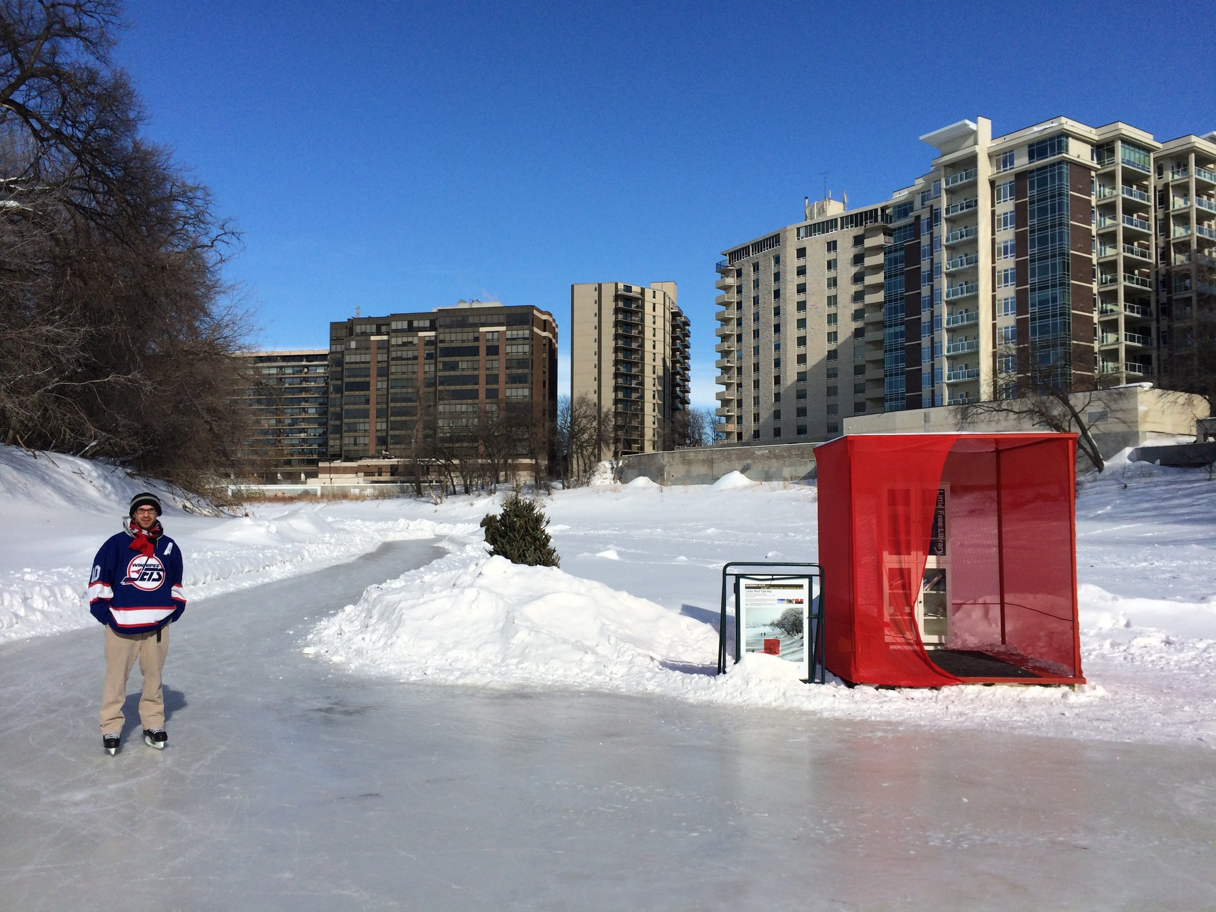 Alex shown in his adopted hometown of Winnipeg, Manitoba, Canada