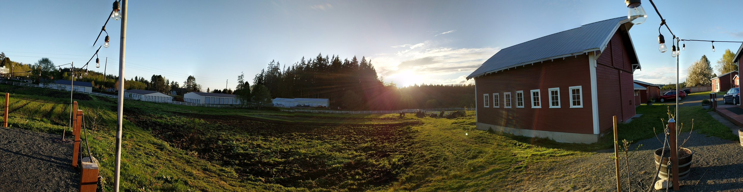 Panorama of Orchard Kitchen Organic Farm and Restaurant Owners Chef Vincent Nattress Wine Maven Tyla Nattress Whidbey Island.jpg
