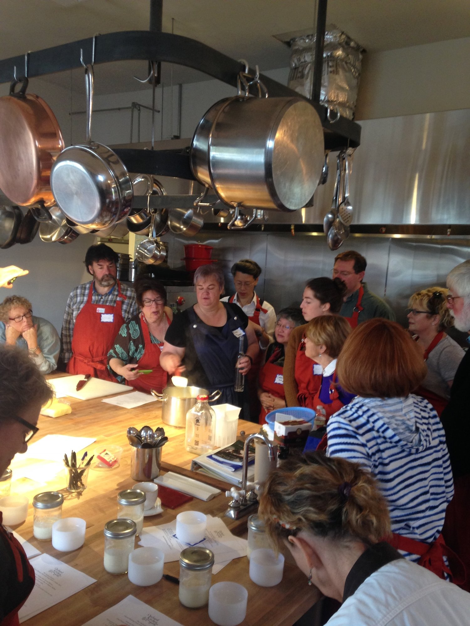 Guest Chef Vicky Brown teaching a cheese class