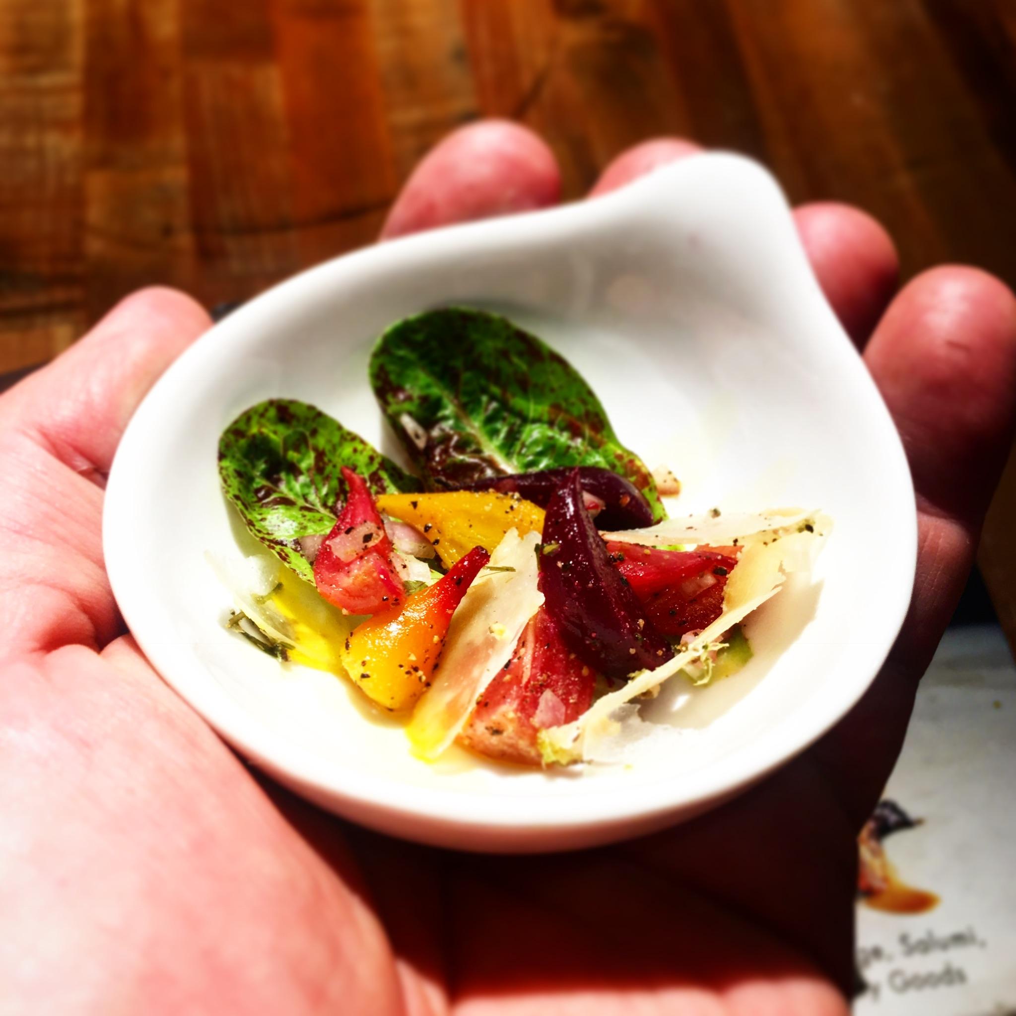 baby beet salad chef vincent nattress.JPG