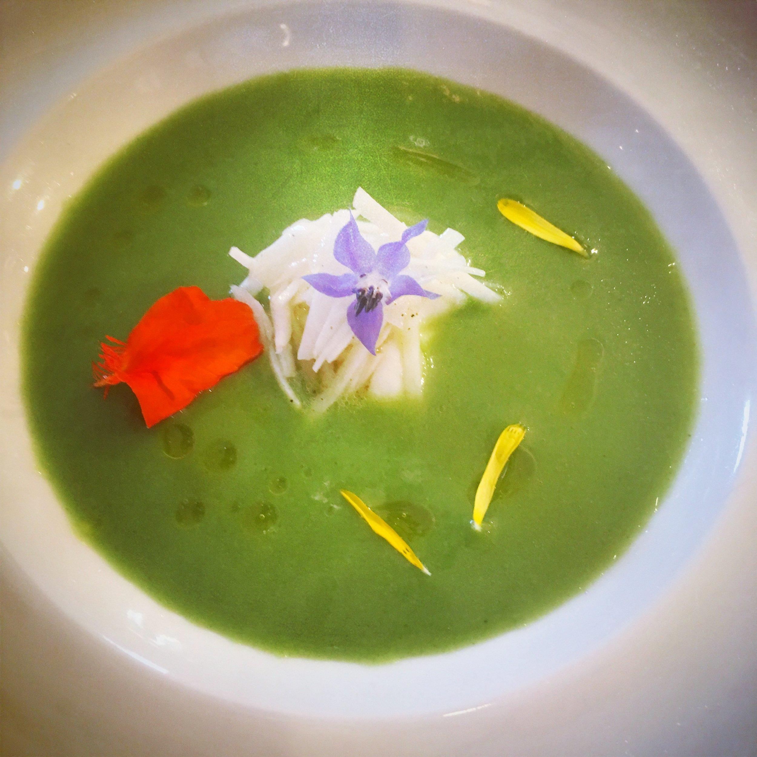 broccoli soup orchard kitchen chef vincent.JPG