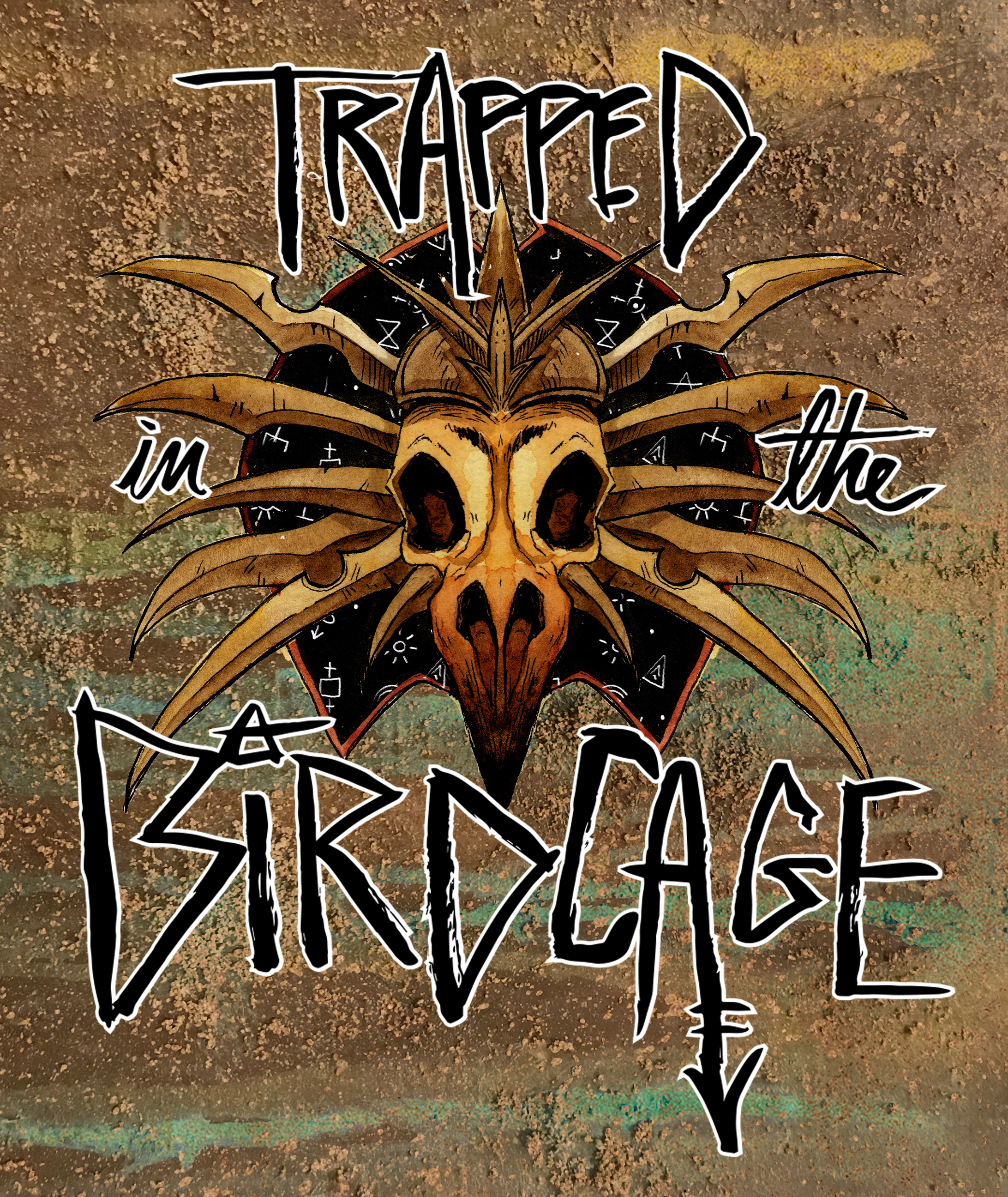 Trapped in the Birdcage logo for Wizards of the Coast's twitch.tv channel. [collaboration with Holly Conrad]