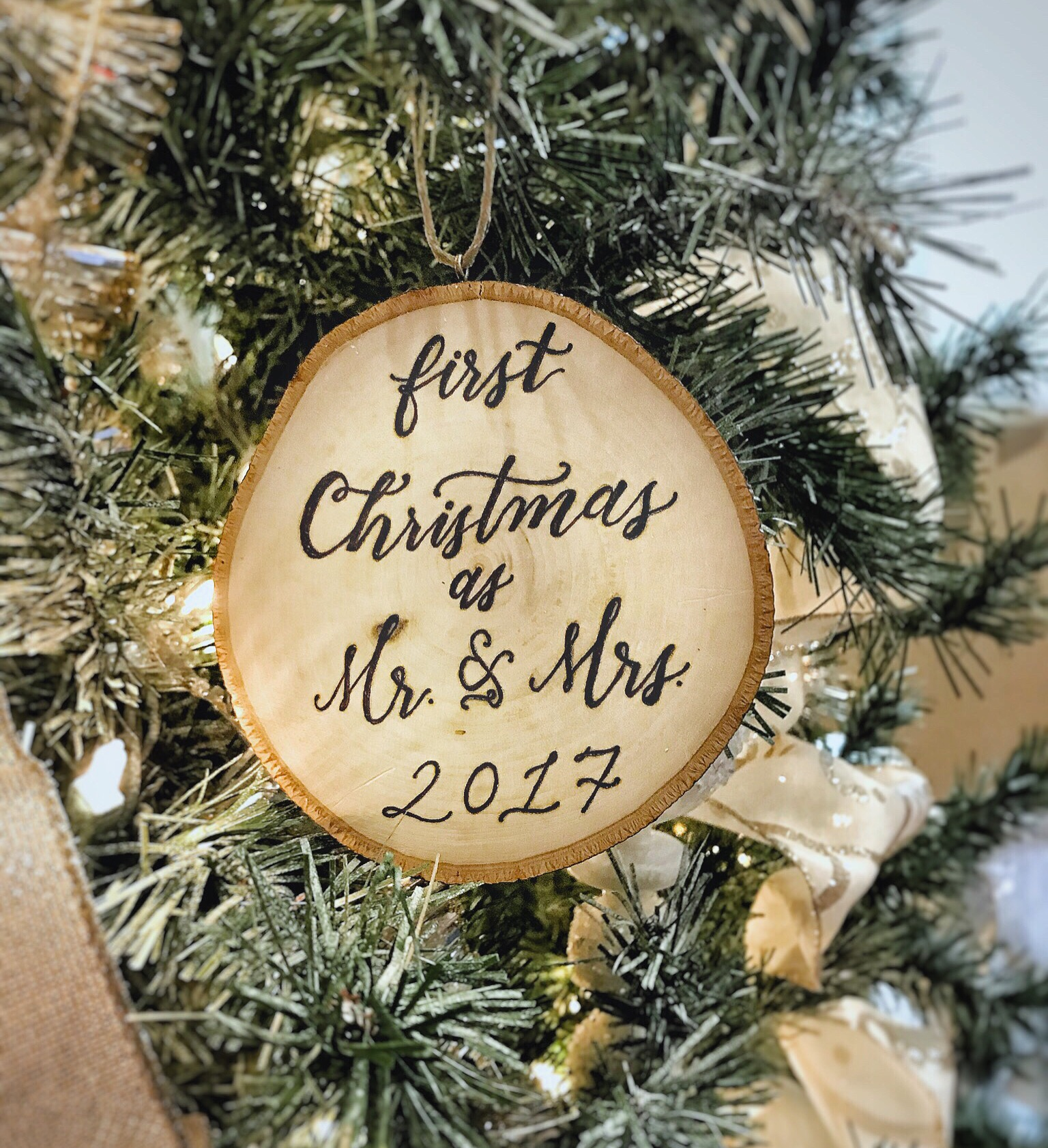 Pyrography Ornament