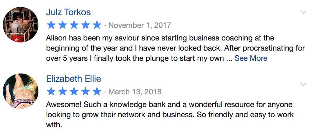 Facebook Business Coaching Reviews