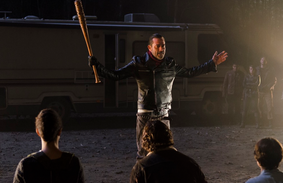 Negan - was first mentioned in season 6 episode 8.