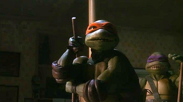 The turtles take April home and they return to find their home ransacked and Splinter missing. -