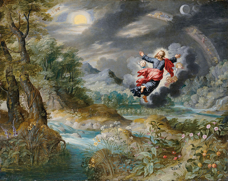 God creating the Sun, the Moon and the Stars by  Jan Brueghel the Younger
