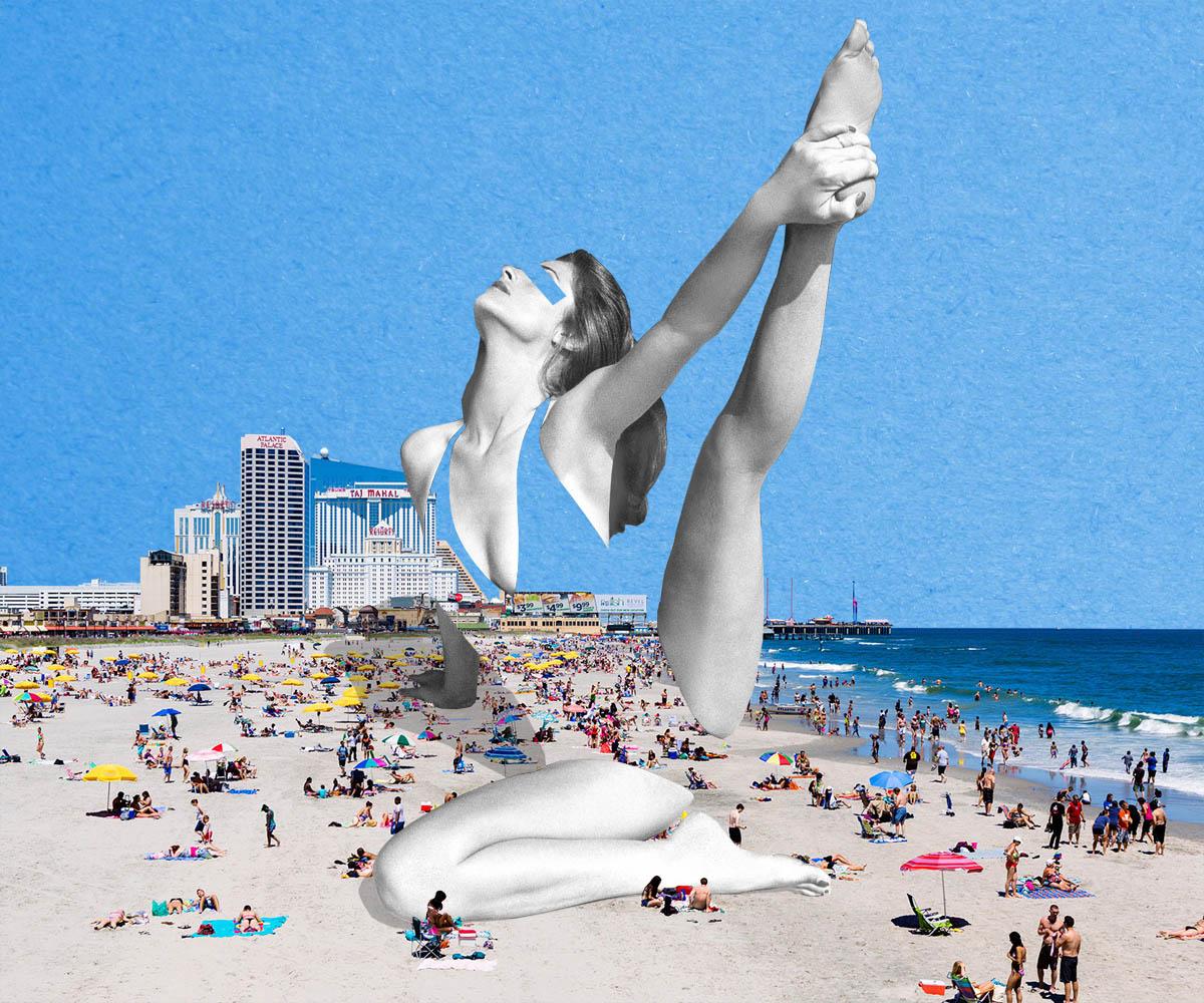[click to shop - beach yoga stretch]