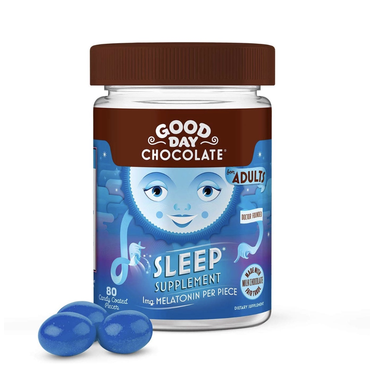 2 of Good Day Chocolate Melatonin Supplement, Natural Sleep Aid (80 Count)
