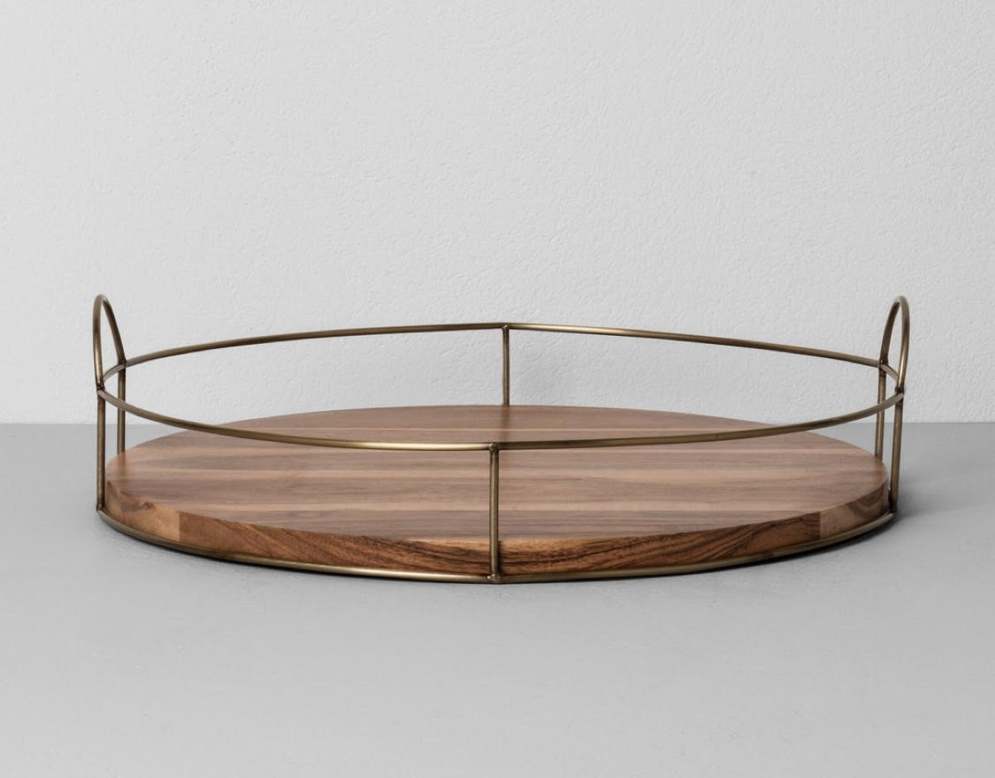 """16"""" Round Wood and Wire Tray - Hearth & Hand™ with Magnolia"""