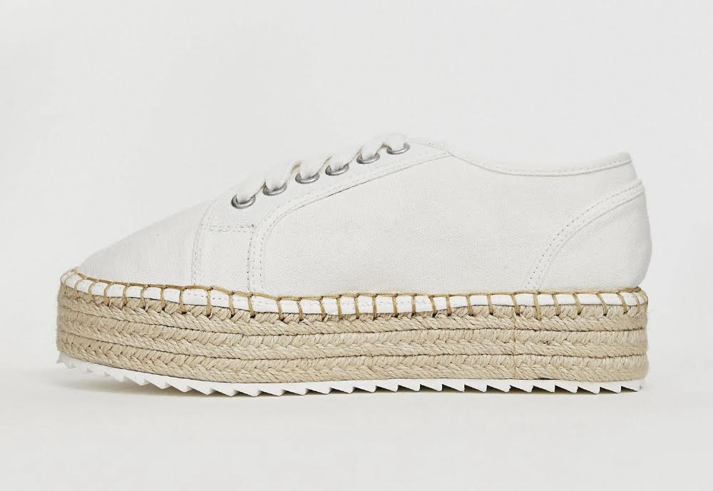 ASOS DESIGN Jakie lace up espadrille sneakers