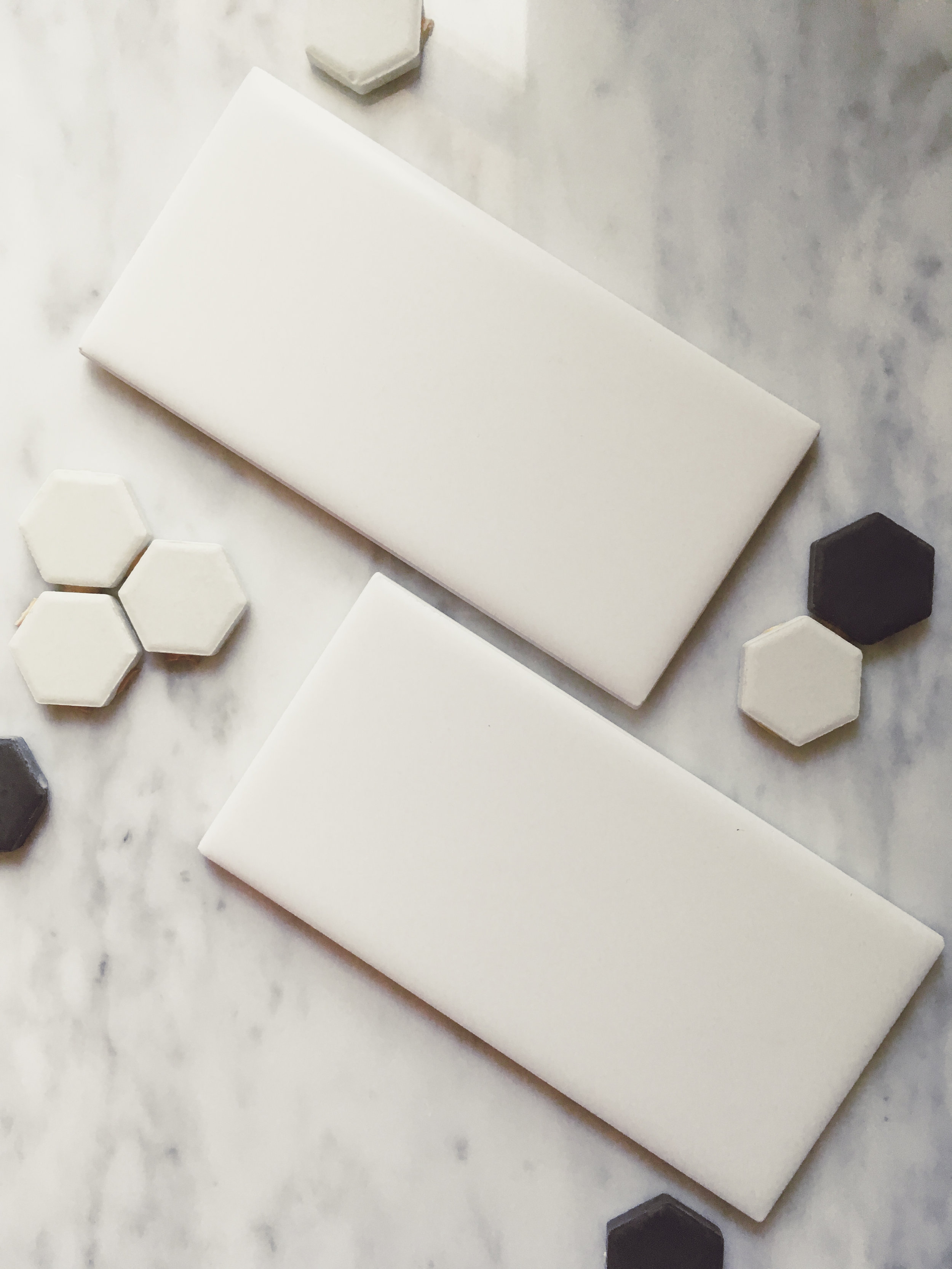 Subway Tile and Hex Tile