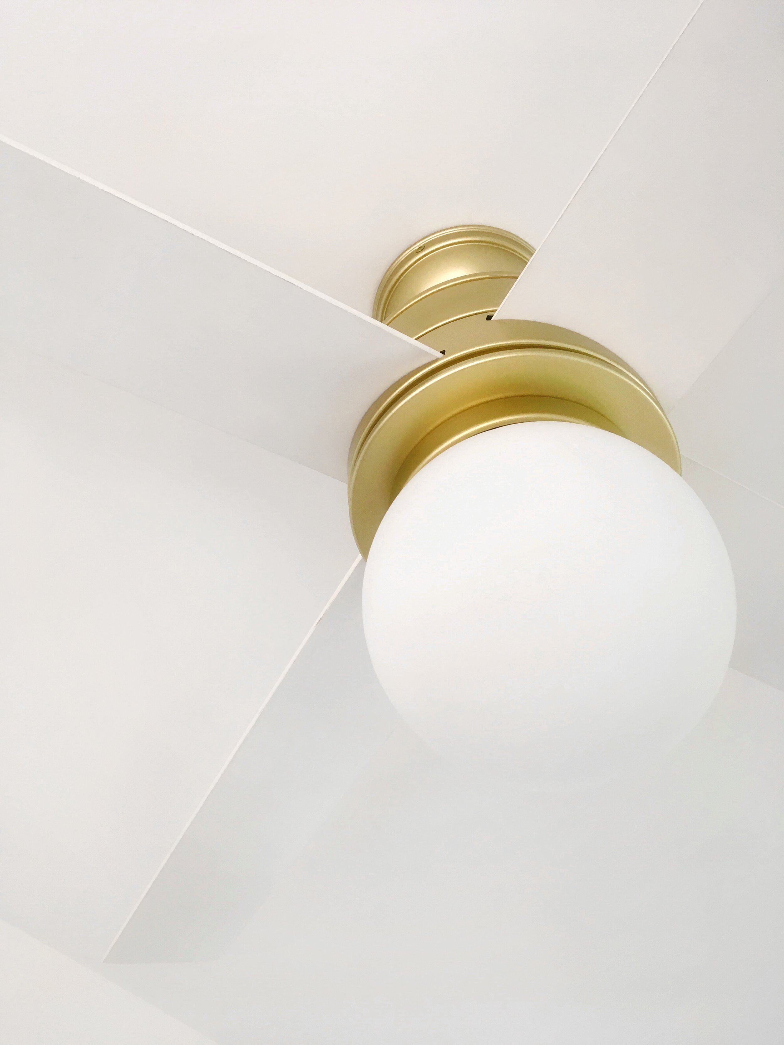 A vintage-inspired globe light with a modern touch.