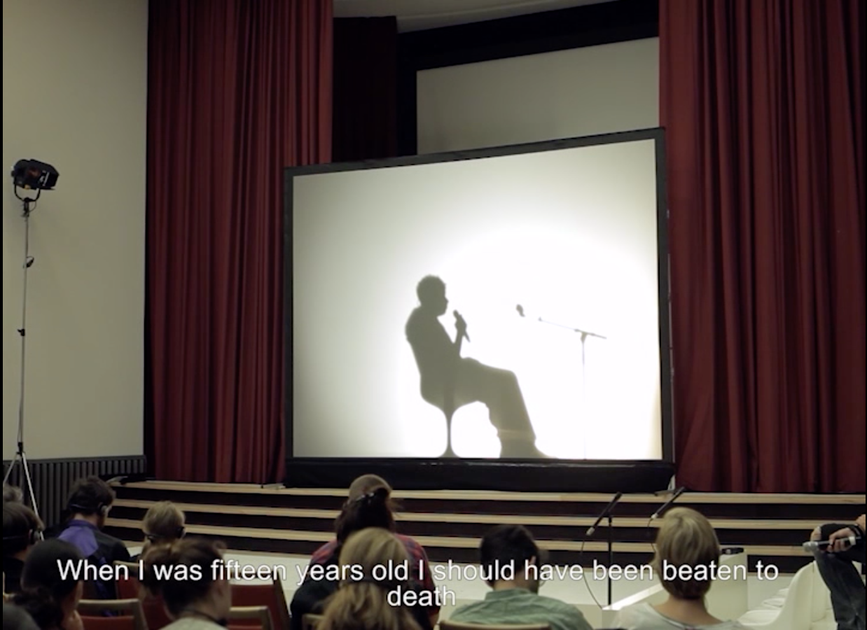 Aníbal López (A-1 53167),  Testimonio , 2012 (video still) video, color, sound, 43:39 min. Courtesy of Prometeo Gallery, Italy.