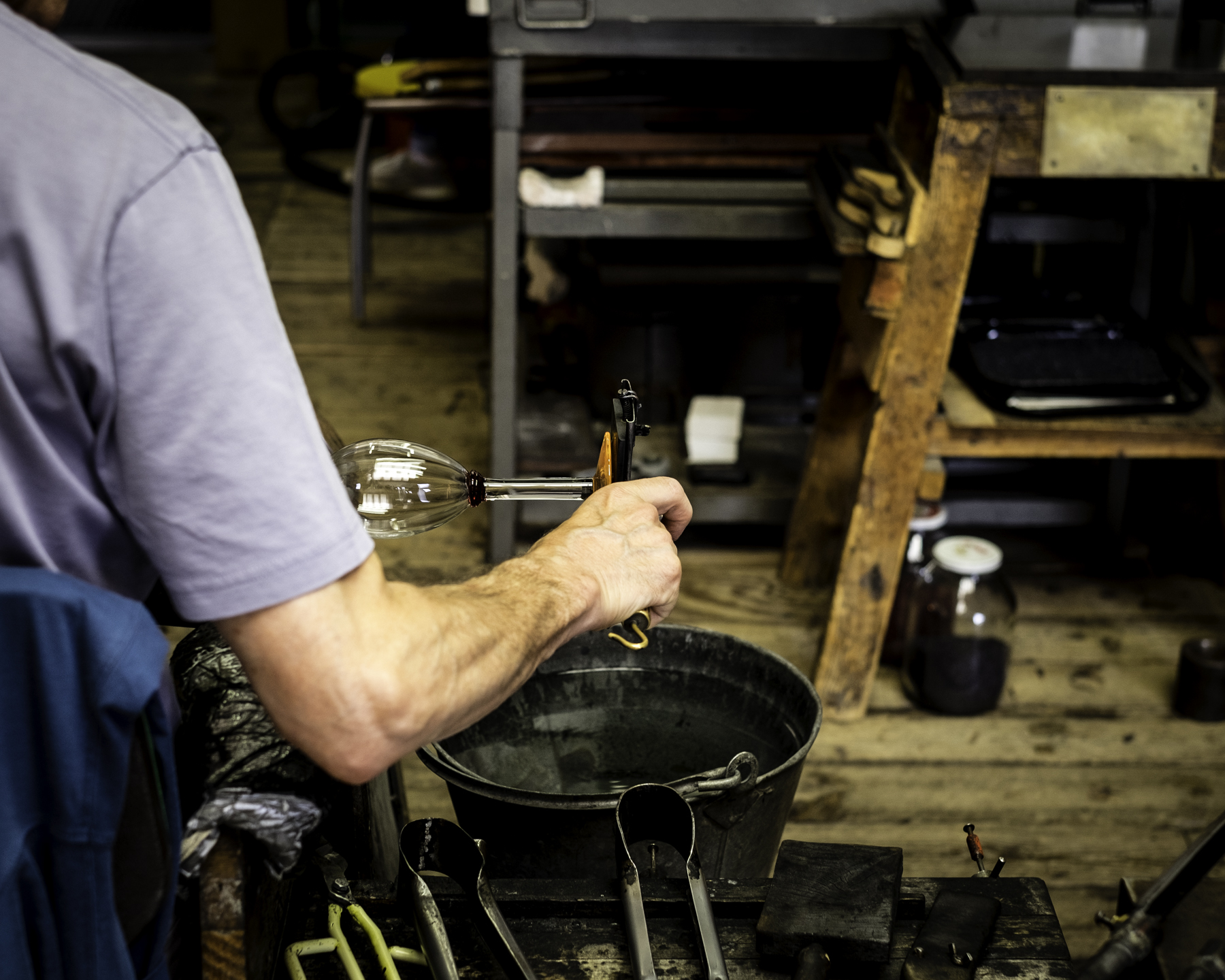 Glass Blowing, Lindean Mill, Selkirk