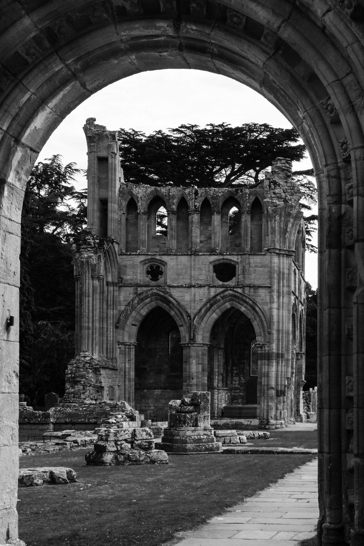 ...And at Dryburgh, Sir Walter Scott lies under the arches, accompanied in the area just in front, by Field Marshal Earl Haig of Bemersyde, until recently bête noir to WW1 historians.
