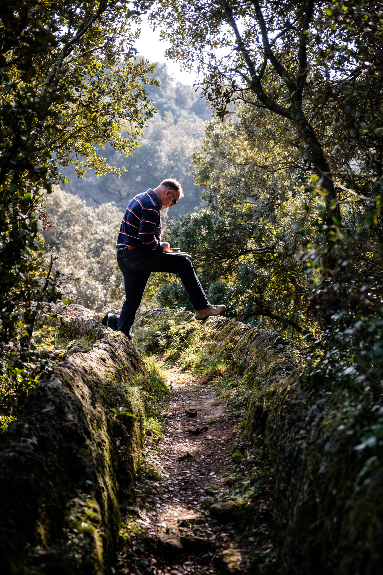 A man happy in his work: Brian on le pont de la Sartanette…