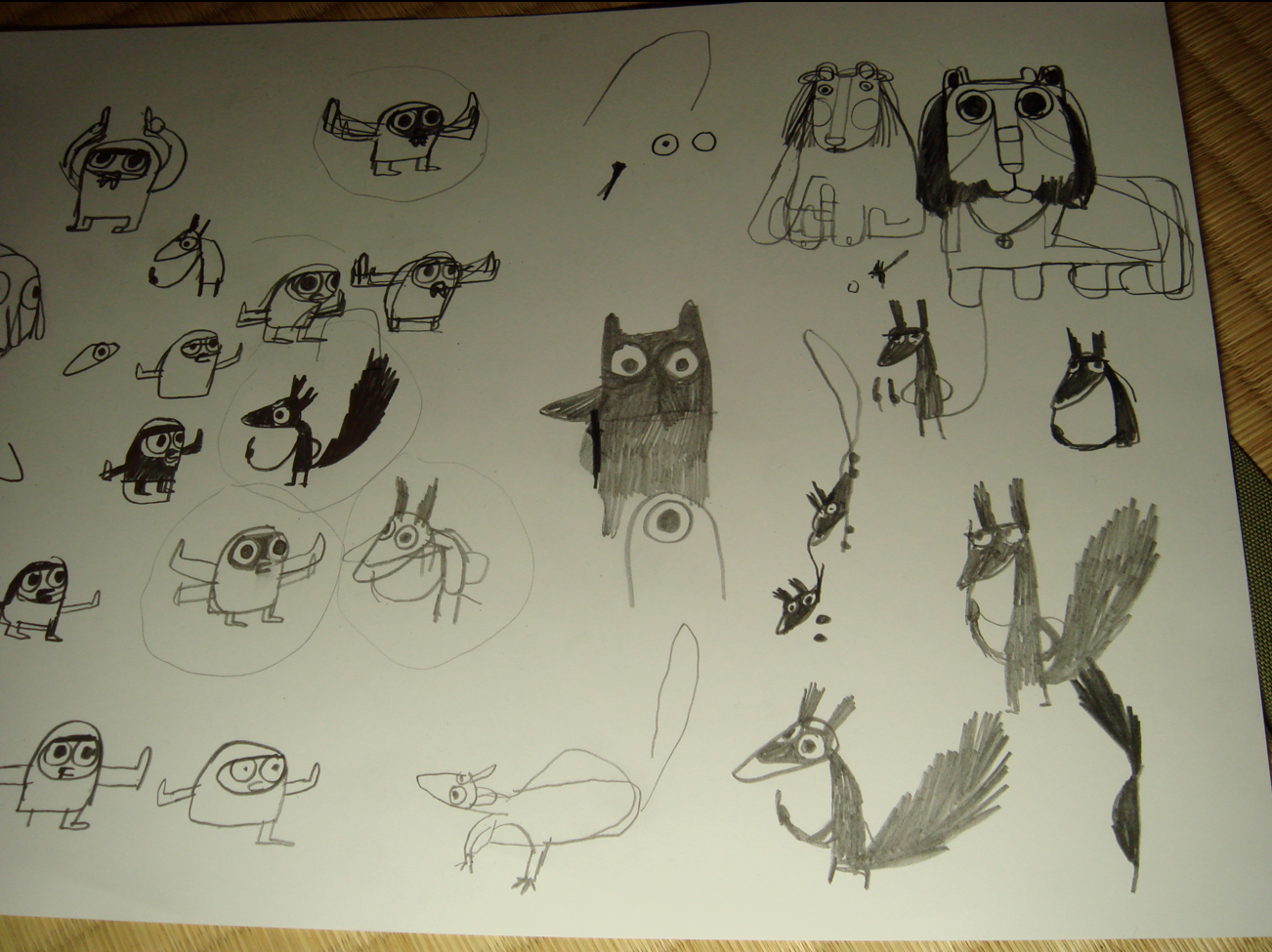 Character sketches for 'A Bit Lost'