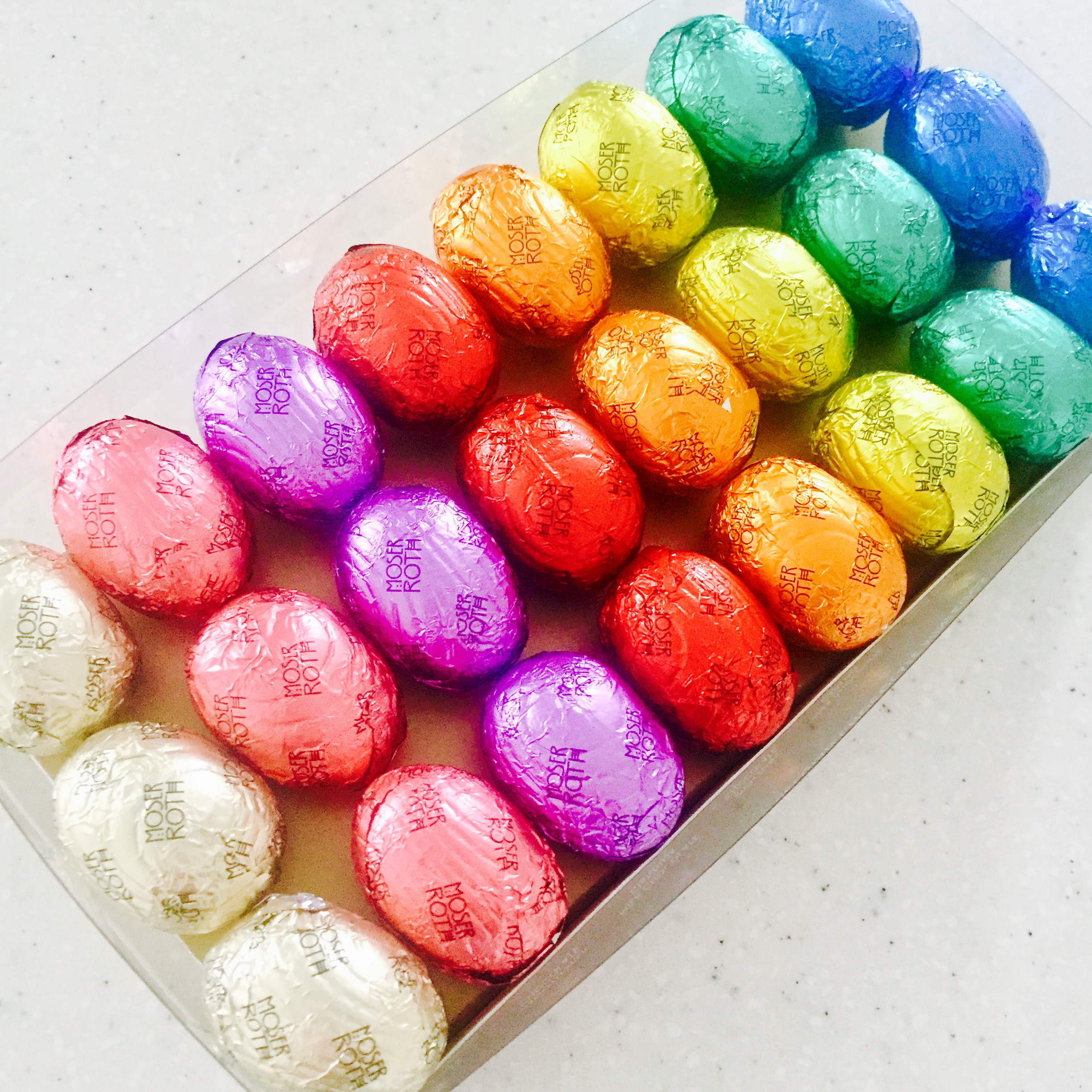 Multi coloured multi flavoured eggs