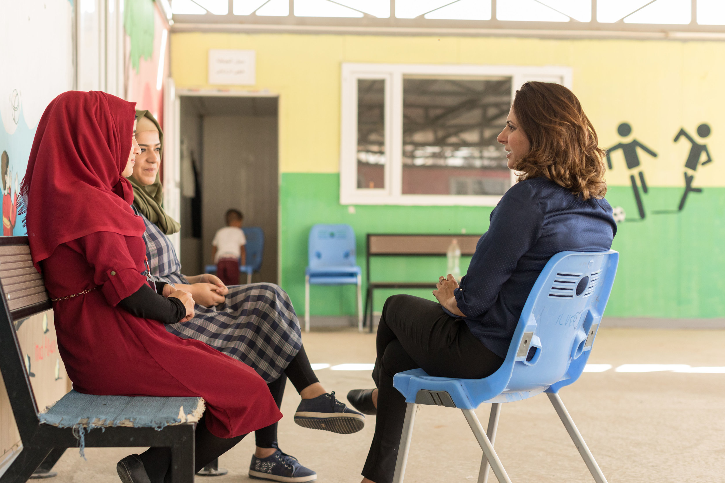 MENTAL HEALTH   The safe social spaces at our centres encourage women and girls to support each other.