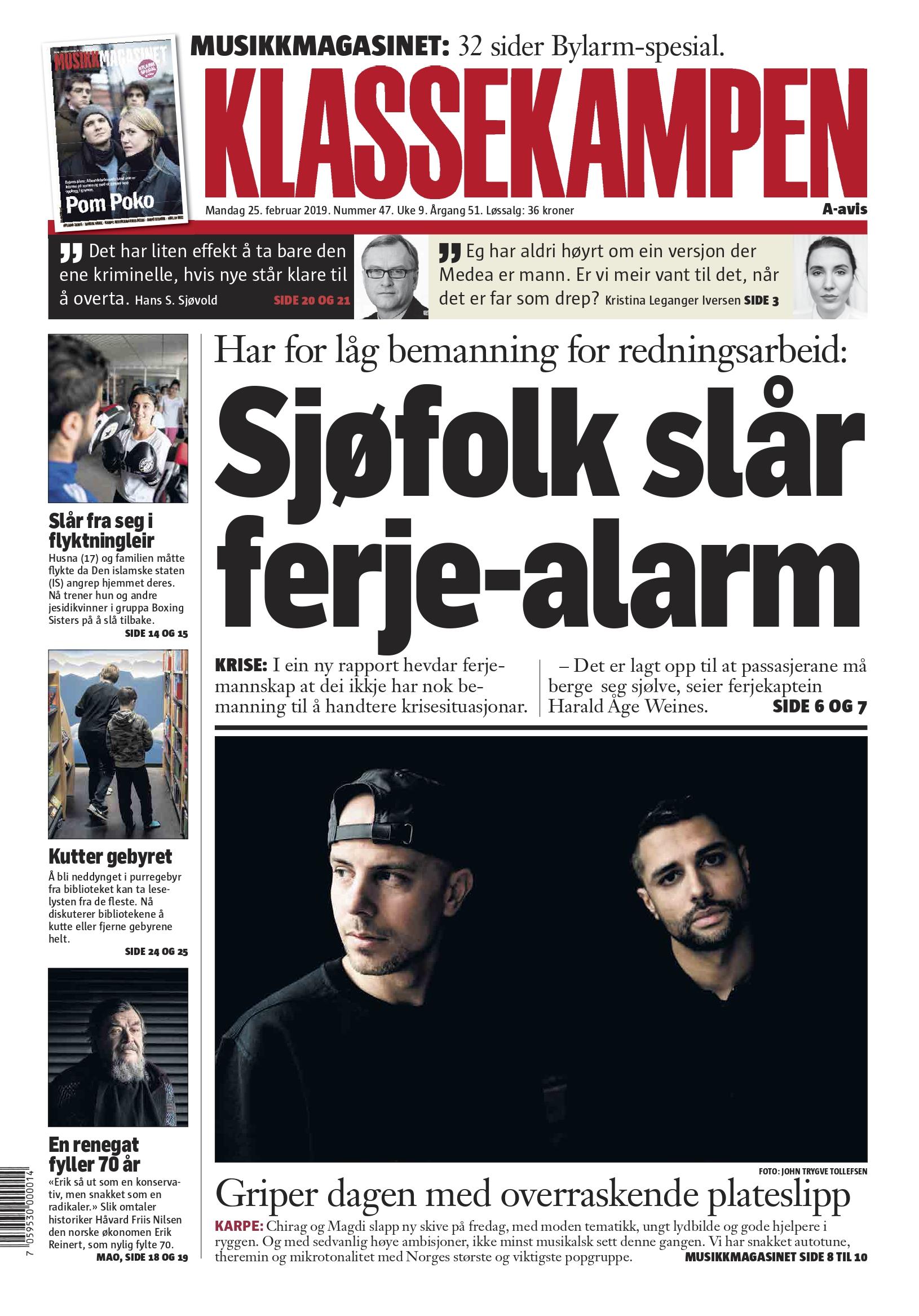 Klassekampen (Norway)- 02.19 First page.jpg