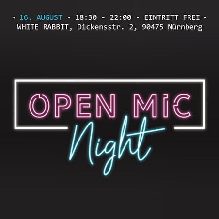 We've got some pretty great musicians lined up for Friday night at our first ever Open Ic Night and you're not going to want to miss it! Come on out @ 18:30 this Friday 16.08 . . #openmicnight #openmicnürnberg #nürnbergmusik #nürnberg #nürnbergkunst #livemusik #musiker #thewhiterabbitarts #followthewhiterabbit