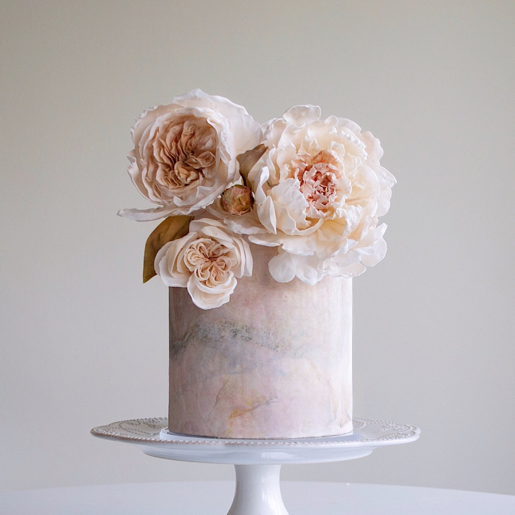 Wedding Flowers on Marble