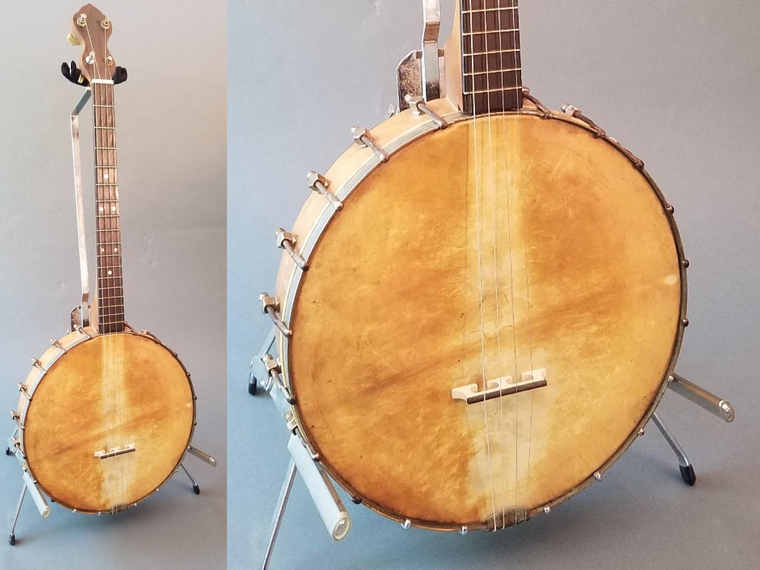 Vintage Concertone - Concertone open-back Irish tenor banjo - Natural-skin head! circa 1920's!$199
