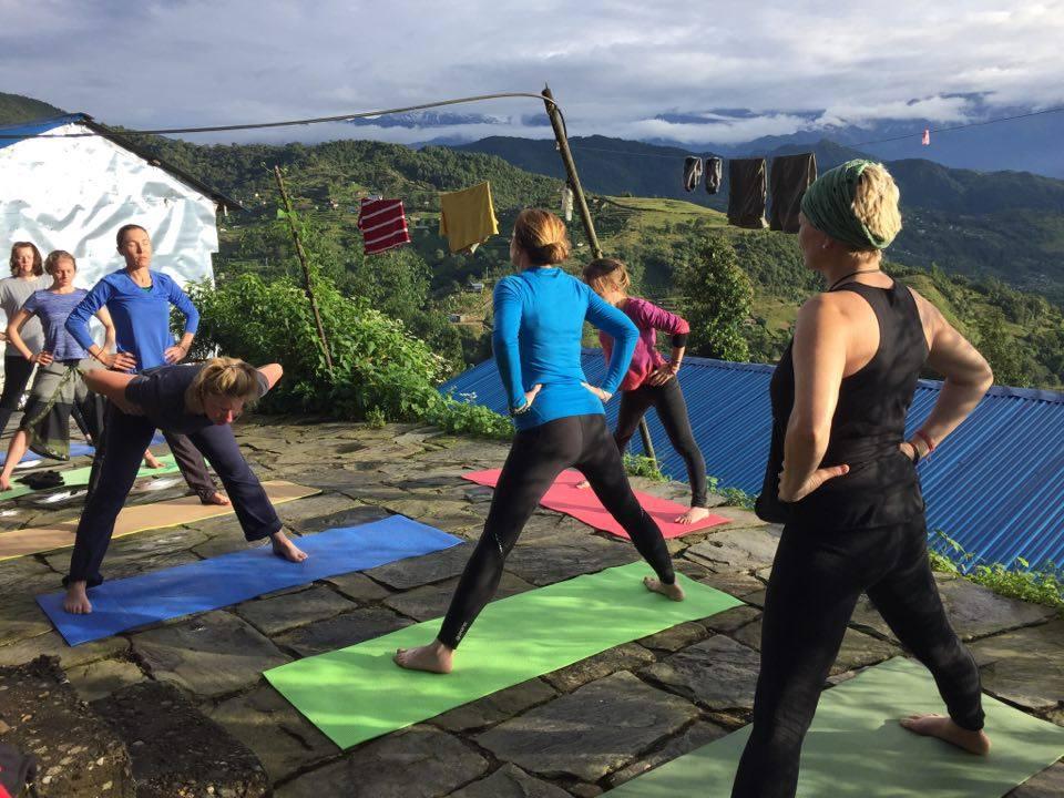 Outdoor yoga and meditation