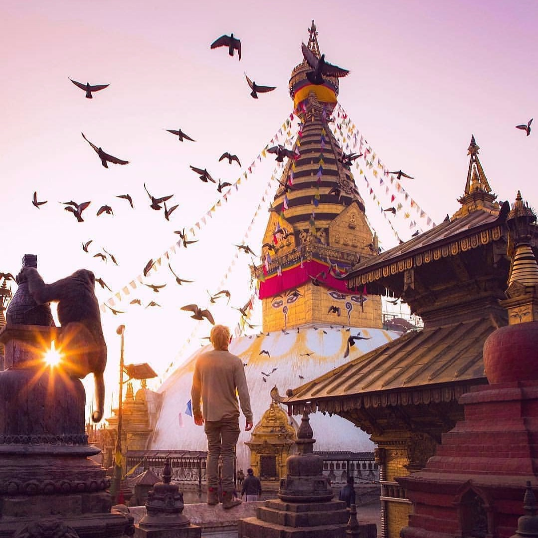 The Buddhist temple that watches over Kathmandu