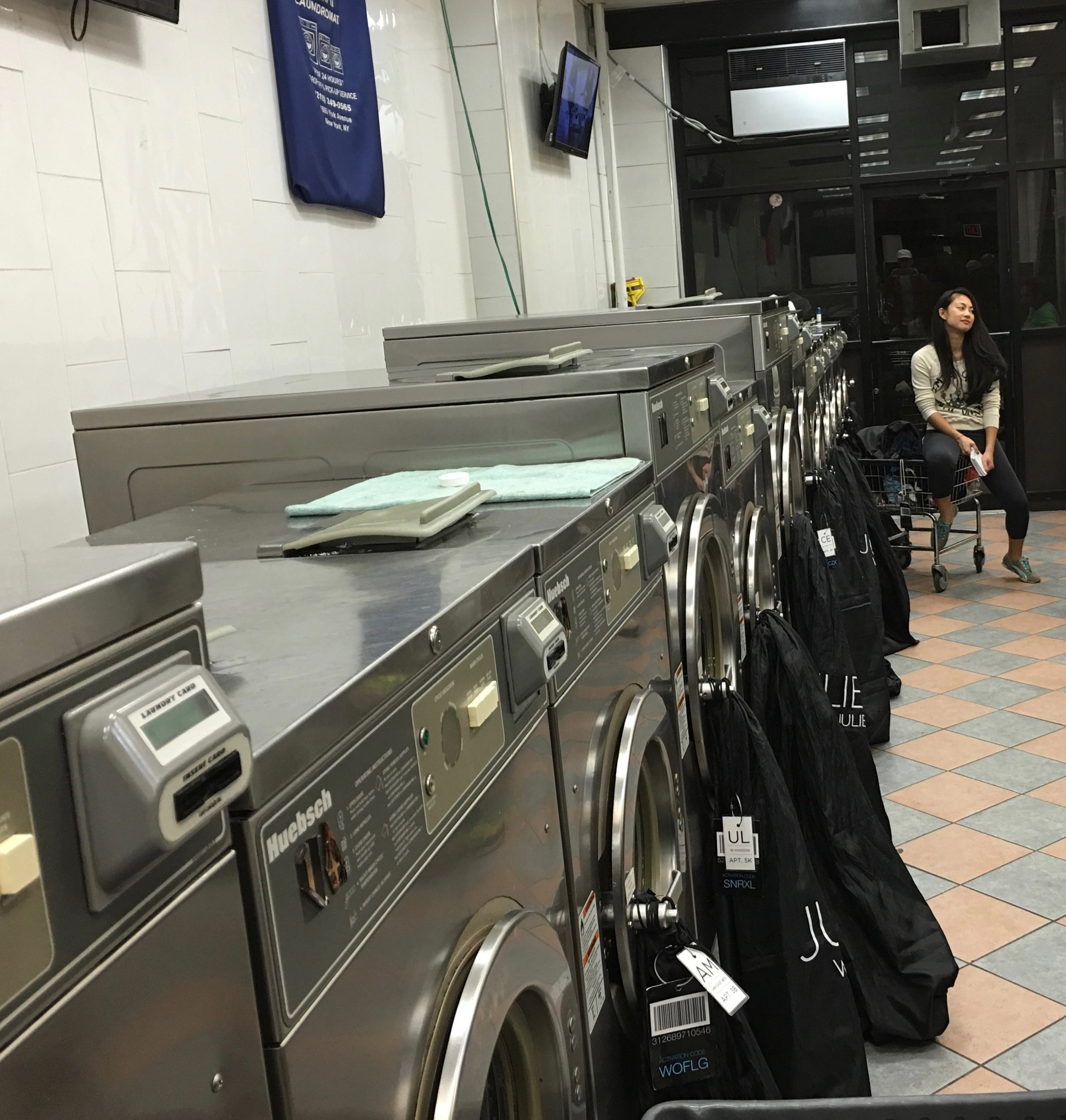 I worked at night. Every single night. I worked in the laundromat 7 days straight for the first two years.