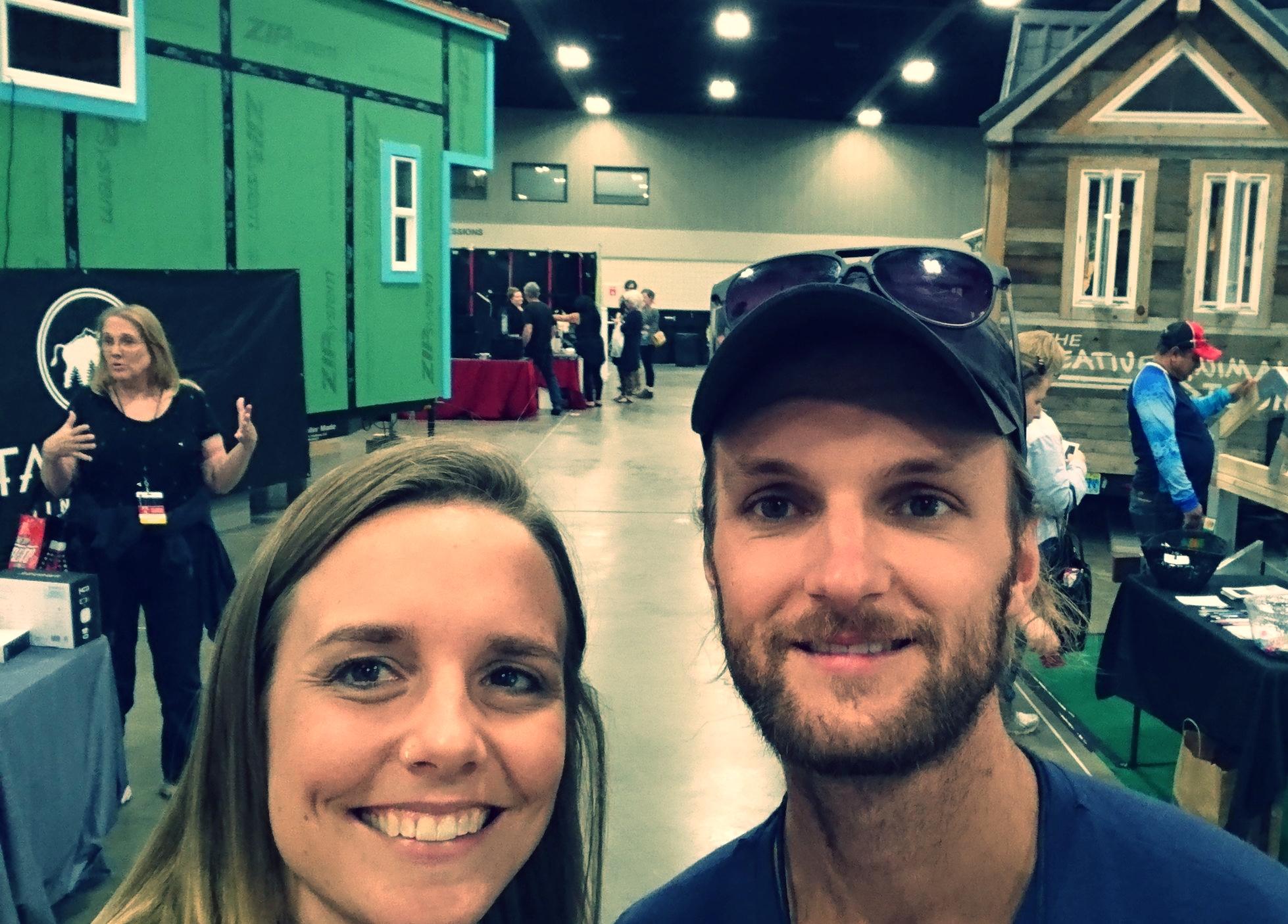 Us at the Tiny House Jamboree USA 2017!