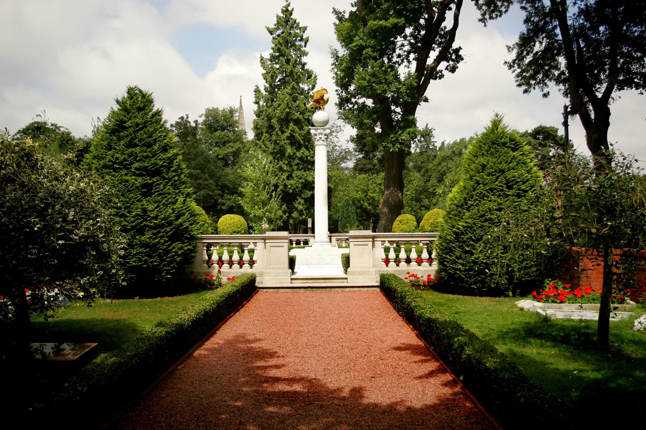 Lugar de descanso de Shoghi Effendi, en un cementerio de Londres, Inglaterra.