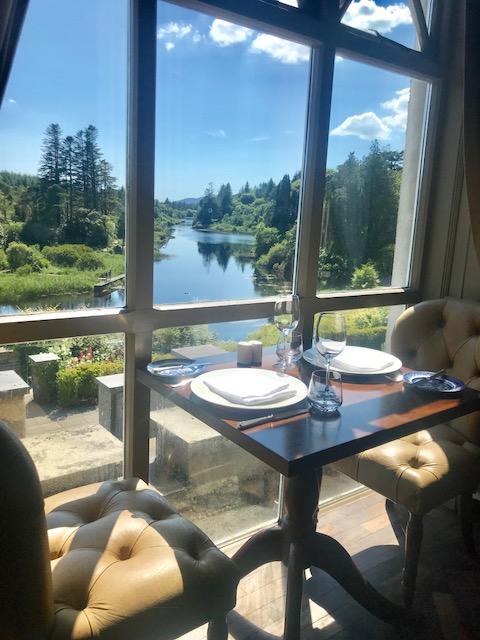 Breakfast views at Ballynahinch Castle