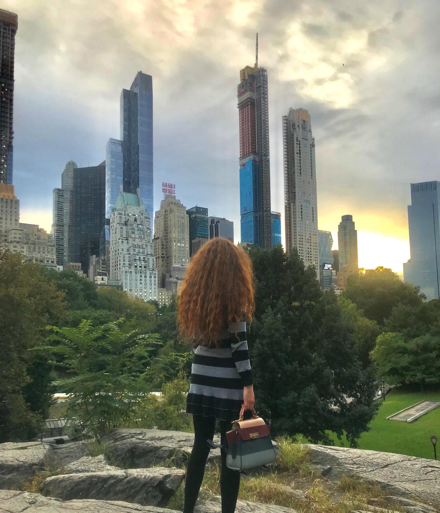 New York Central PArk Lorna Ryan Blogger Model